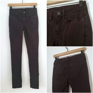 Vince Midrise Skinny Jeans in Mulberry Color